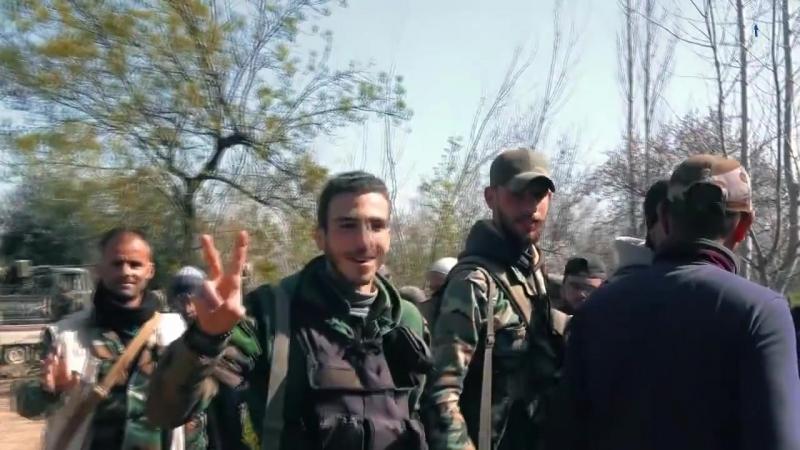 Операции Сирийской Арабской армии во время освобождения города Джисрин в Восточной аль-Гуте