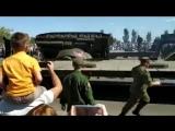 В Курске перевернулся танк