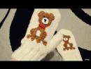 Варежки с собачкой | узор собачка | вязание | крючком | спицами | Andomiku