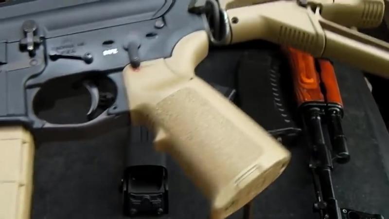 Американец хвалит АК 74 и обсирает AR 15 M