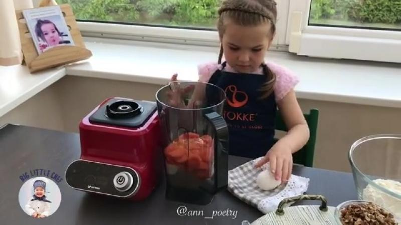Блендер kitfort помогает готовить морковный пирог