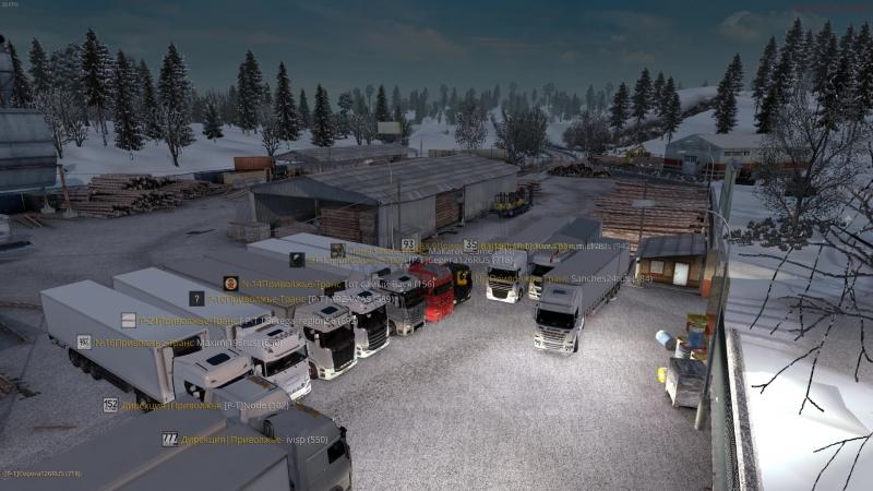 Euro Truck Simulator 2 Парковка после конвоя!