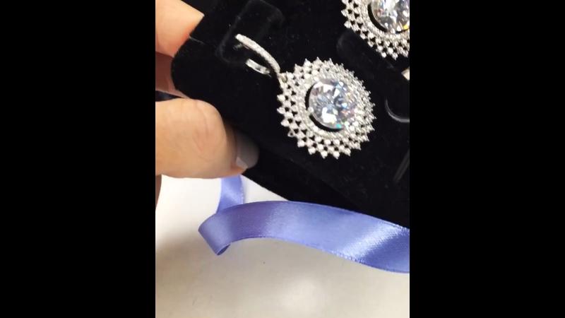 💣🔝Эффектный комплект 💎цирконы алмазной огранки сверкает супер 🙌🏼🔝