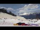 2 апреля в сноупарке на Розе Хутор ветром сорвало подушку и она неслась вниз по трассе 500 метров