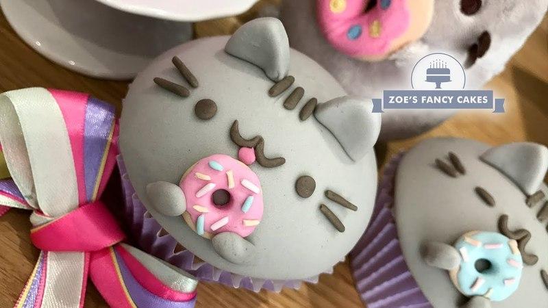 D I Y Pusheen Cat Cupcakes Сделай сам Кексики Пушин