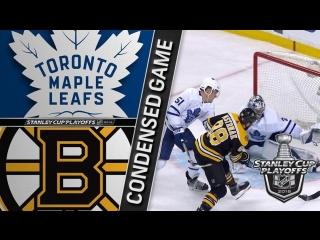 Toronto Maple Leafs vs Boston Bruins R1, Gm1 apr 12, 2018 HIGHLIGHTS HD