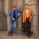 Кадр со съемок нового фильма Тарантино «Однажды в Голливуде» с участием Питта и Ди Каприо.