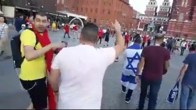 Туниские болельщики напали на Израильского болельщика на Красной площади