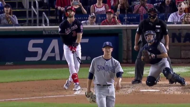 Watch Bryce Harper retake the NL lead in homers