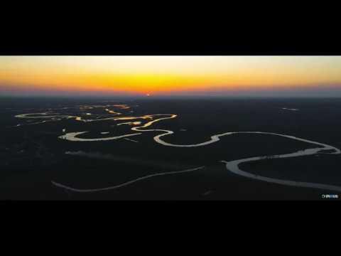 Красивый закат на реке Аксай Есауловский.