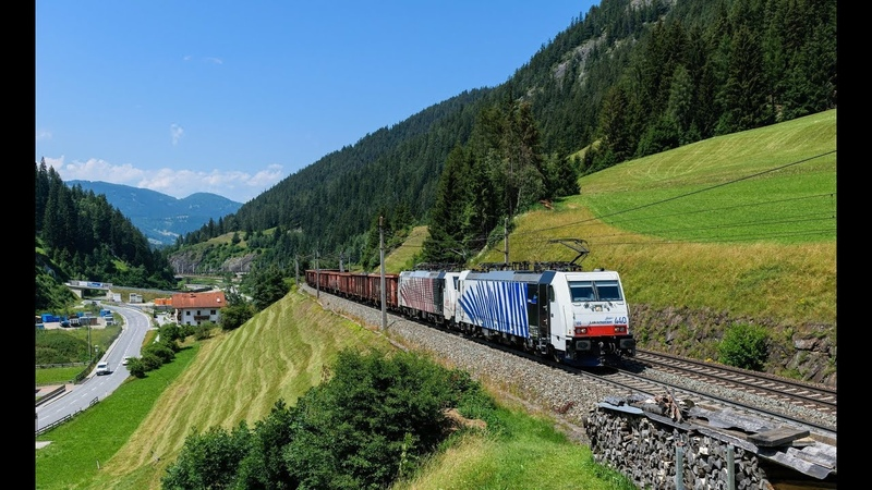 Cab Ride - Train Driver in Summer - Traveling from Letohrad along with the Forests and Mountains