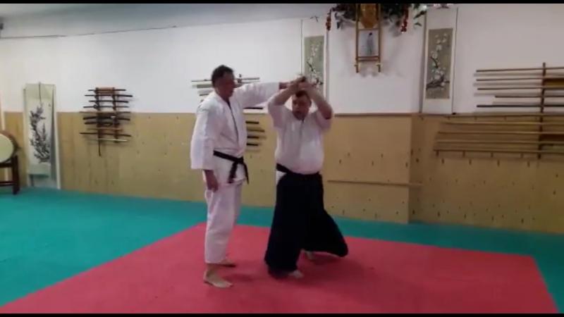 Uchikaitennage (boken) вход через tenkan
