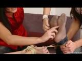 Ticklish Andrea in Hogtied
