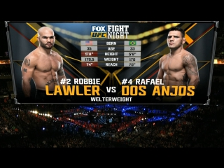 UFC FIGHT NIGHT WINNIPEG Robbie Lawler vs Rafael Dos Anjos