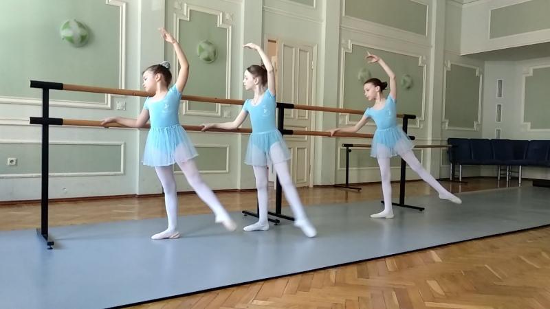 Battement tendu jete от учеников школы студии балета Жете