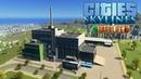 Cities Skylines Parklife - Мегазавод по переработке и плавучие сады! 53