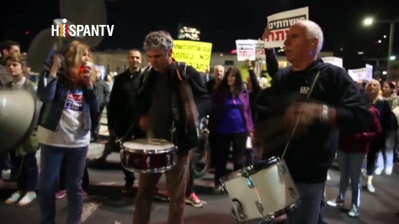 Israelíes protestan en Tel Aviv para exigir la renuncia de Netanyahu