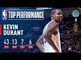 Kevin Durant's EPIC 43 Point Performance In Game 3 2018 NBA Finals
