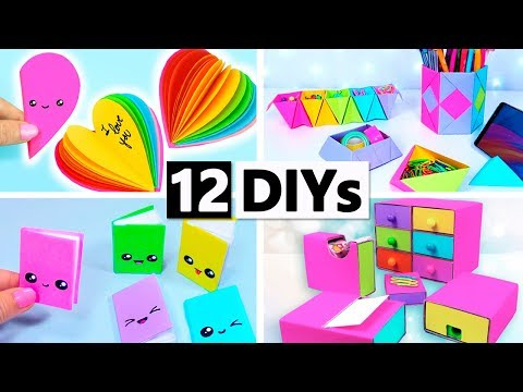 DIY SCHOOL SUPPLIES! 12 DIY YOU CAN MAKE IN 5 MINUTES