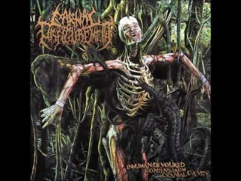Carnal Disfigurement Inhuman Devoured Content from Cranial Cavity full album