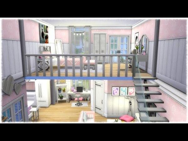 The Sims 4: Speed Build GIRLY LOFT NO CC