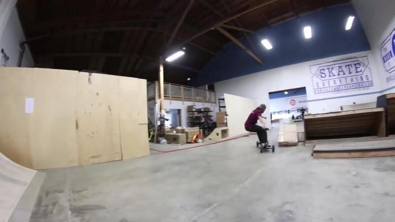 [Braille Skateboarding] BACKFLIP A MOUNTAIN BOARD?!