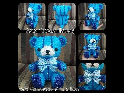 How to Bead My Teddy Bear Ribbon   DIY   Tutorial Beading Ribbon