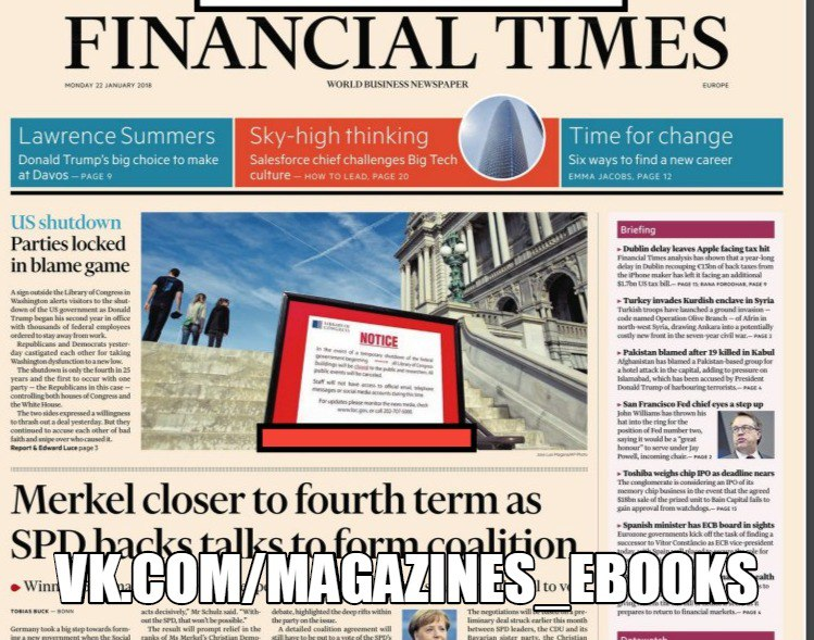Financial Times Europe - January 22, 2018 World business