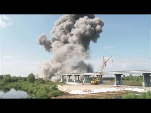 В Беларуси взорвали мост через Припять