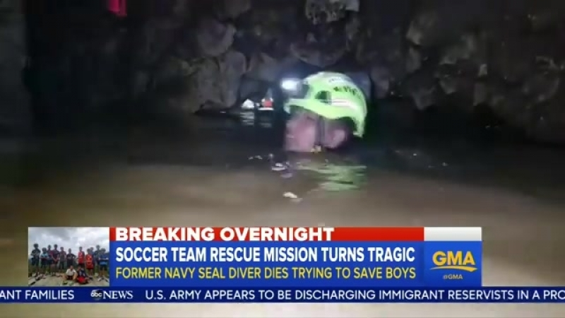 A former Thai navy SEAL died on Friday working to deliver supplies to the soccer team trapped in a cave in Thailand.