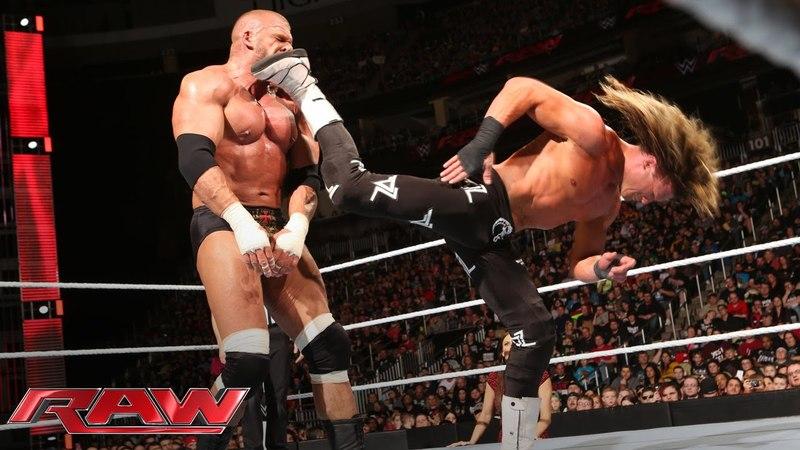 Dolph Ziggler vs Triple H Raw March 14 2016