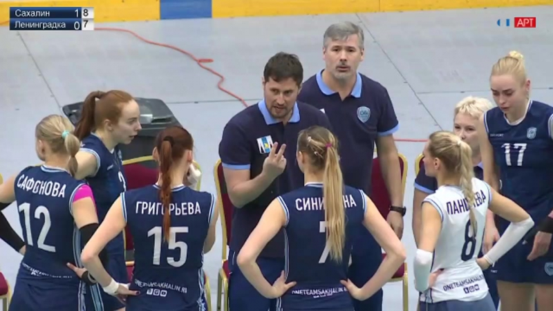 Волейбол Женщины чемпионат России Сахалин - Ленинградка 22_01_2018