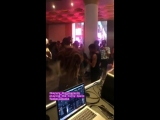 Brooke Candy Djing Azealia Banks song (Live Performance at the Office) 07_26_18