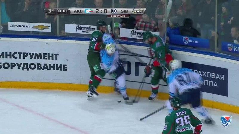 Моменты из матчей КХЛ сезона 14/15 • Удаление. Степан Захарчук (Ак Барс) получил 520 минут штрафа 27.03