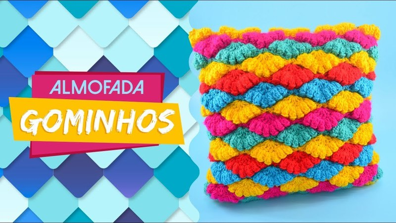 ALMOFADA GOMINHOS DE CROCHÊ AMIGA