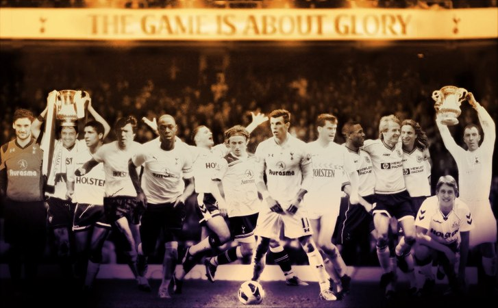 Tottenham Hotspur Heroes in White Blue