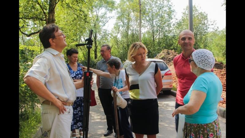 Зона отдыха в поселке Стрельна на улице Кропоткинская и Грибоедова
