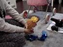 Фиксики чинят коляску куклы Анюты