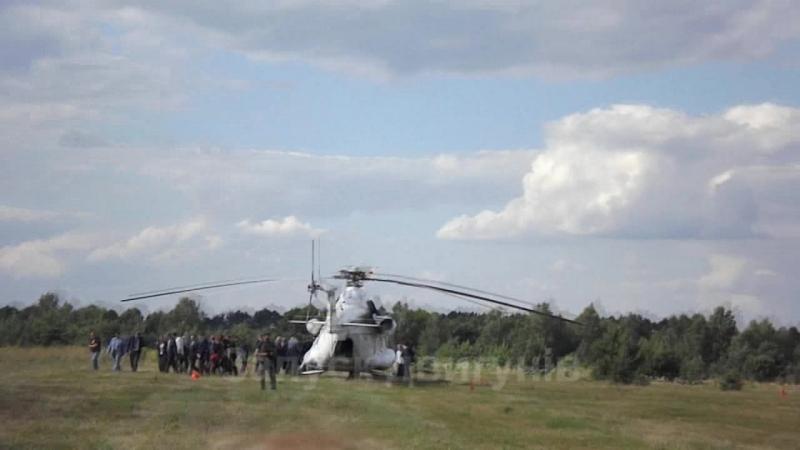 Візит президента на Волинь 08.07.2018 вертольоти