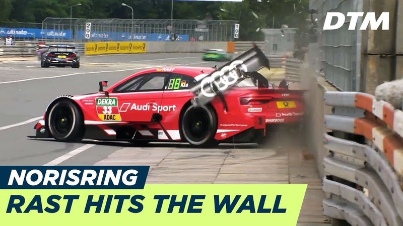 René Rast ruins his Qualifying session - DTM Norisring 2018