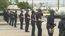 LAPD In Riot Gear Puts Kibosh On Reveling After Mexico's World Cup Win Against Germany