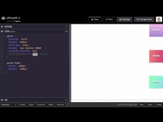 CSS Grid #6 Выравнивание внутри grid контейнера (Alignment P