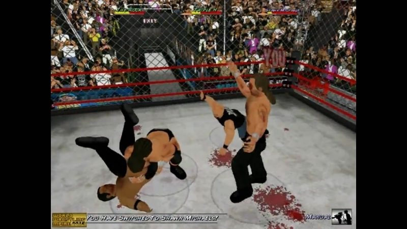The Rock vs Triple H vs Shawn Michaels