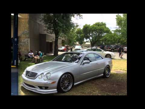 MERCEDES CL55 AMG MEET STANCE SHOW OFF W215 AMG LIP KIT CARBON FIBER AND VIP WHEEL