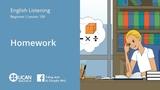 Learn English Listening Beginner - Lesson 100. Homework