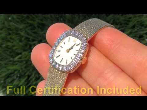 Ladies Vintage Genuine Rolex Watch 14K Diamond Bezel