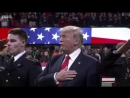 Did President Trump forget the words to the national anthem - BBC News