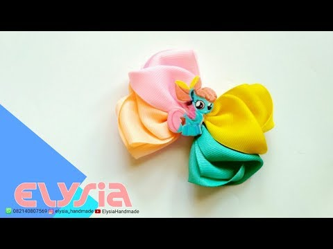 Laço My Little Pony   Cute Ribbon Bow From My Daughter Toys   DIY by Elysia Handmade
