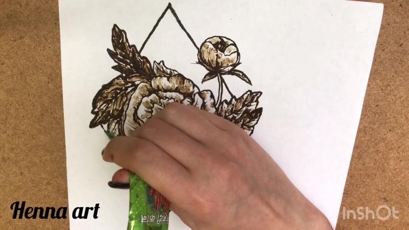 Henna art   Пионы мехенди