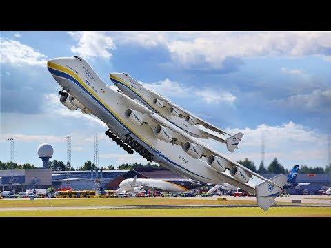 WORLD'S BIGGEST PLANE ANTONOV AN 225 MRIYA landing take off and fact about 2018